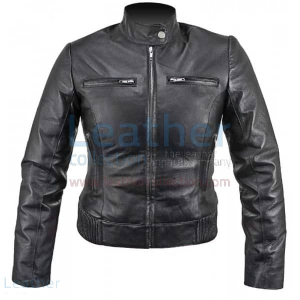Grab Ladies Waist Length Leather Jacket for SEK1,751.20 in Sweden