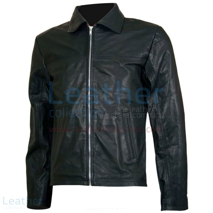 Layer Cake Biker Leather Jacket front view