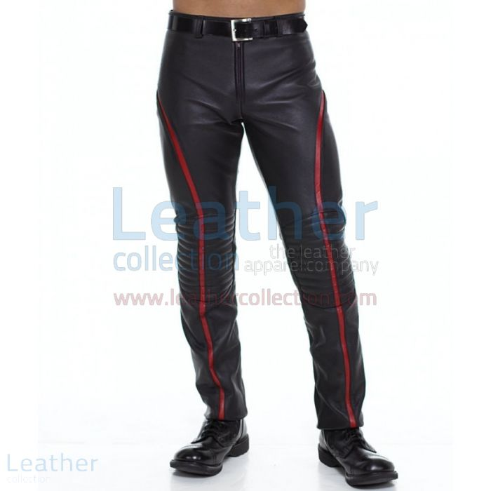 Stripe Pants – Leather Pants | Leather Collection