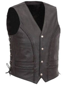 Vests Motorcycle – Leather Motorcycle Vest With Safety Armor | Leather Collection