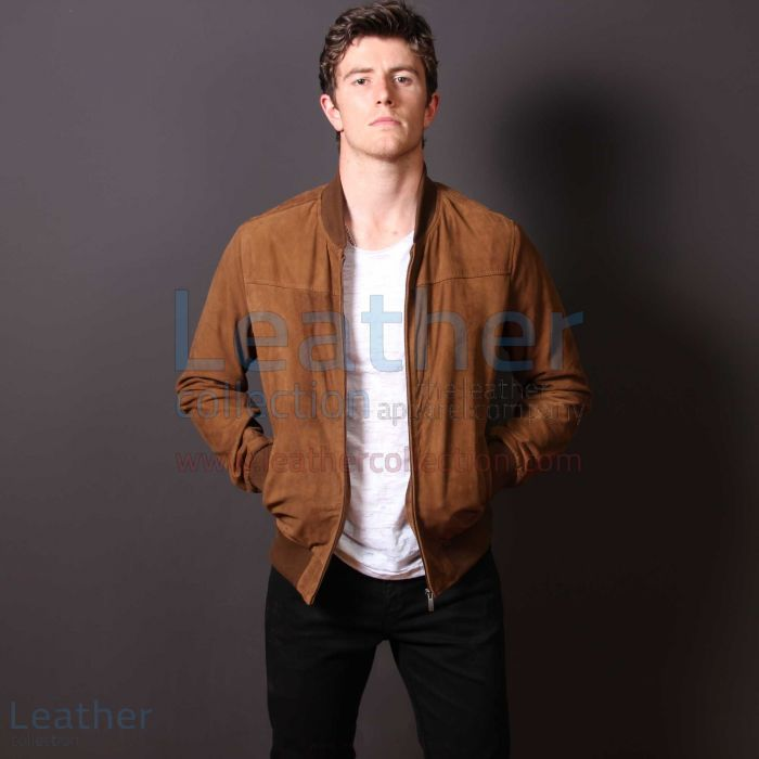 London Camel Leather Jacket Mens