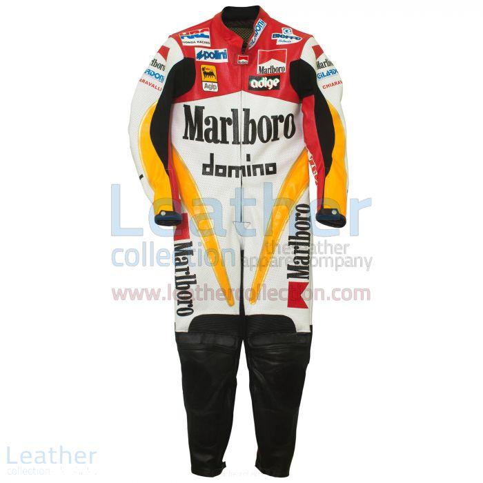 Offering Loris Capirossi Honda GP 1995 Racing Suit for $899.00