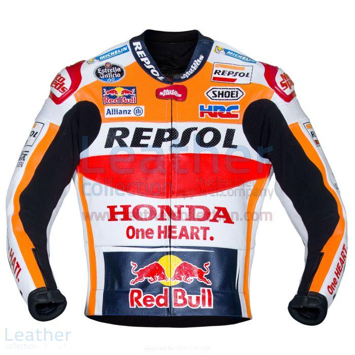 Pick it up Marc Marquez Honda Repsol MotoGP 2017 Leather Jacket for SE