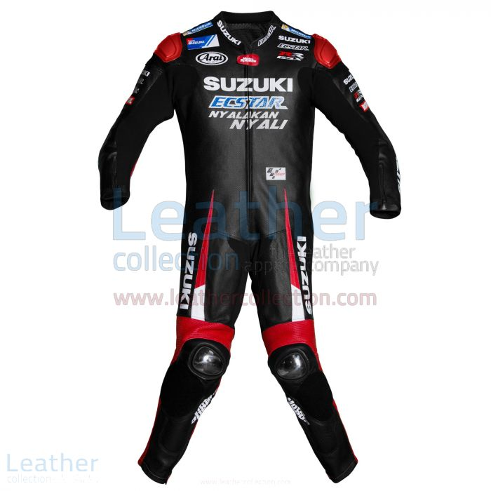 Maverick Vinales Suzuki MotoGP 2016 Leather Suit front