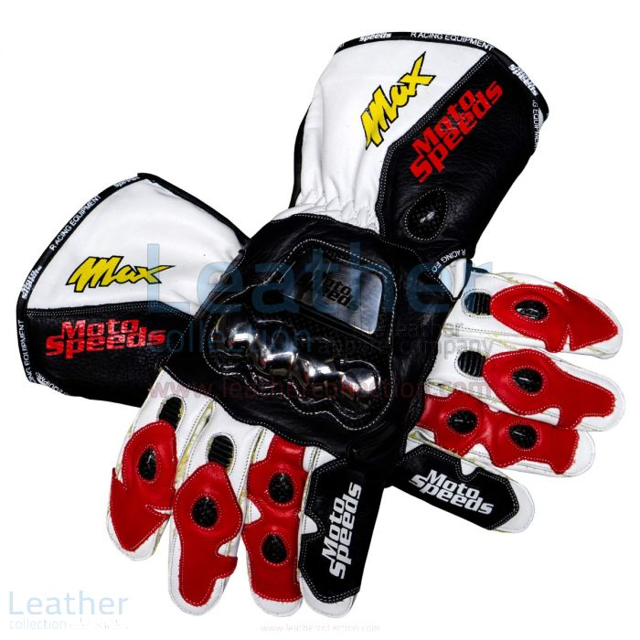 Shop Max Biaggi GP 1995 Racing Leather Gloves