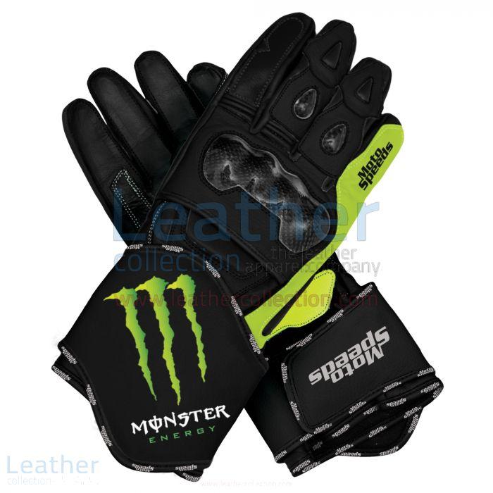 Grab Online Monster Motorbike Leather Race Gloves for $250.00