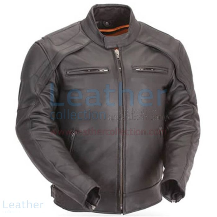 Reflective Piping & Vented Jacket | Buy Now | Leather Collection