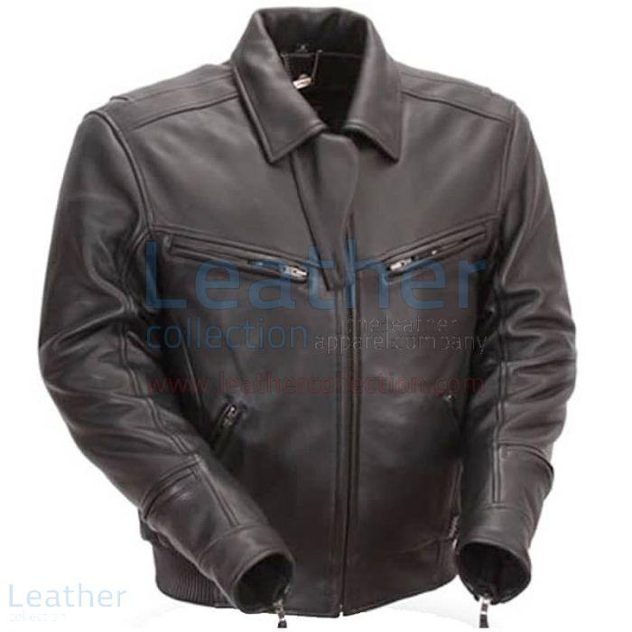 Kauf Nackte Leder Bronson Hybrid Motorradjacke Schwarz