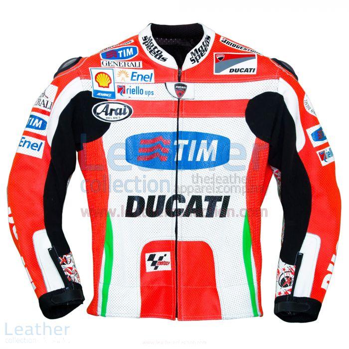 ¥49,84のためのオンラインニッキー・ヘイデンドゥカティ2012 MotoGPのレザージャケットを選びます