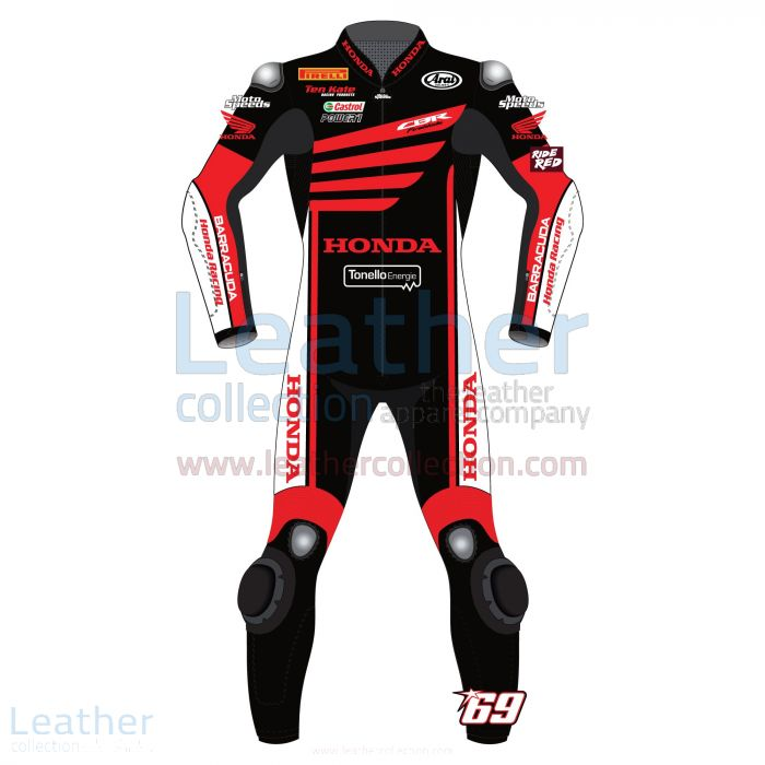 Nicky Hayden WSBK Winter Test Honda 2015 Motorcycle Suit front