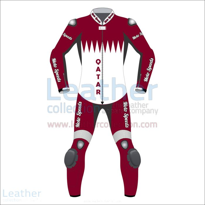 Pick Online Netherlands Rounded Flag Leather Moto Suit for CA$1,048.00