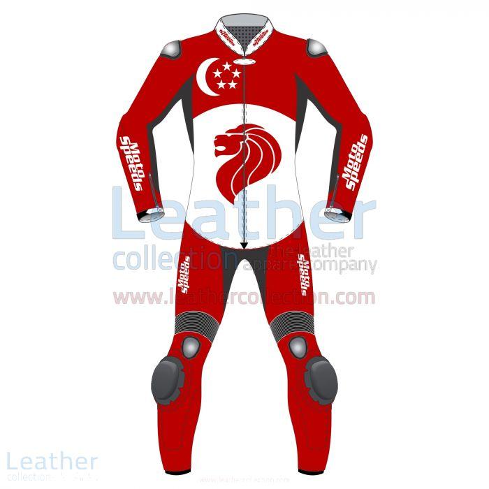 Singapore Flag Moto Suit – Moto Suit | Leather Collection