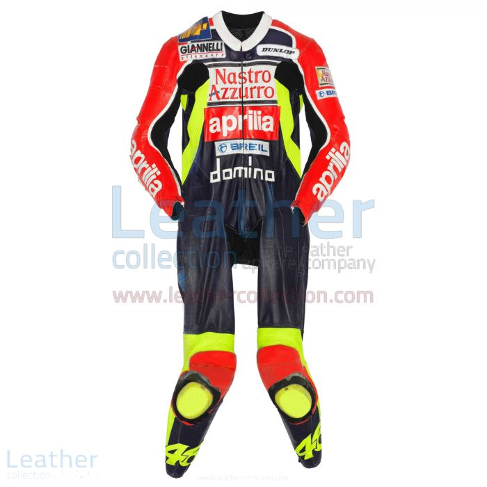 Valentino Rossi Aprilia GP 1998 Leather Suit front view
