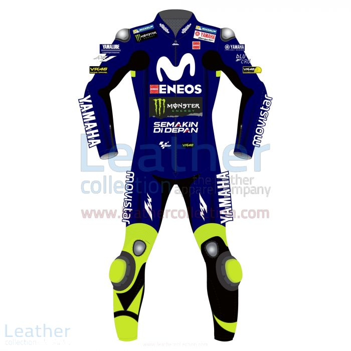 Valentino Rossi Movistar Yamaha Losail Circuit MotoGP 2018 Suit front view