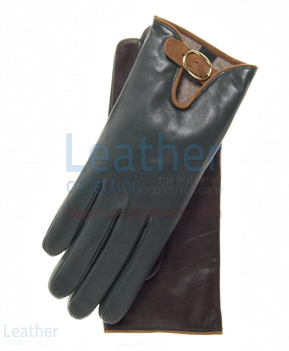 Wool Lined Buckled Gloves for Ladies upper view