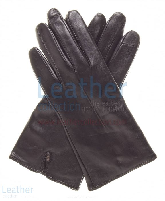 Wool Lined Ladies Brown Leather Gloves