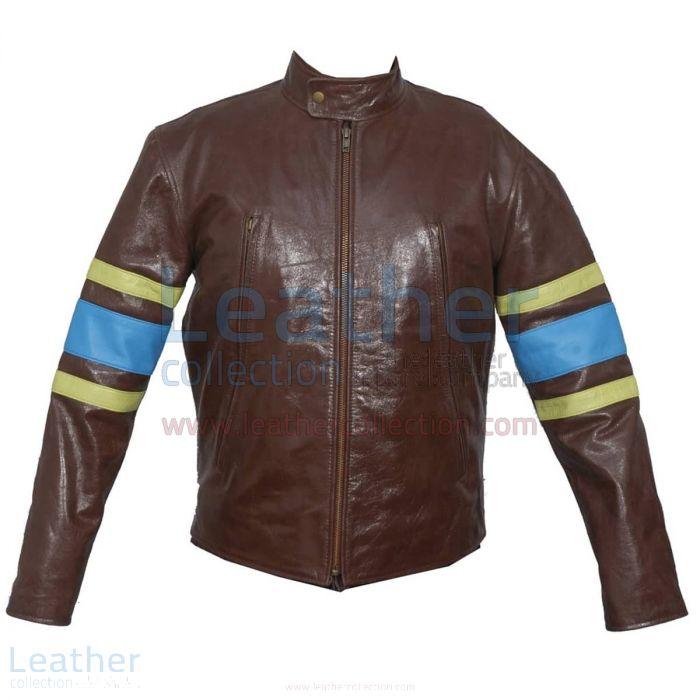 Customize X-MEN Wolverine Origins Biker Leather Jacket for CA$504.35 i