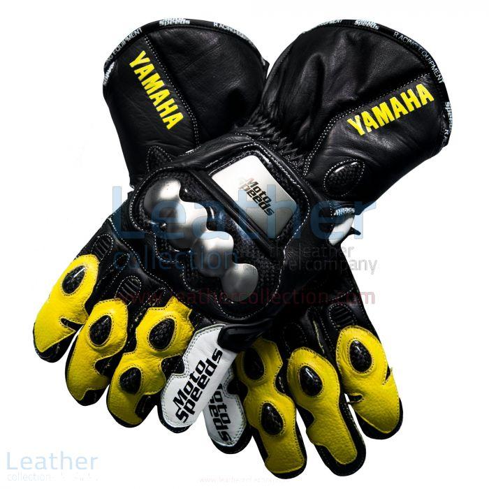 Shop Yamaha Racing Leather Motorcycle Gloves Yellow