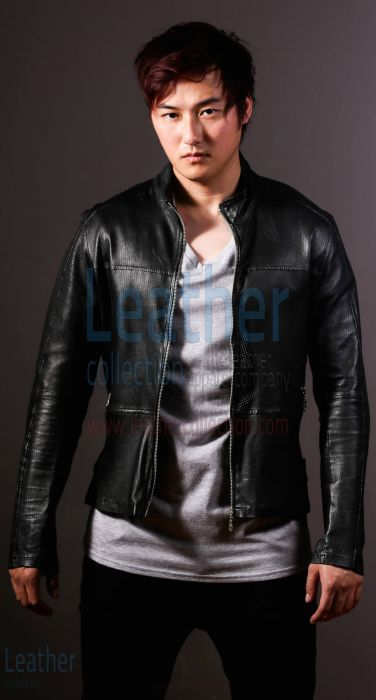 MEN FASHION STEEL LEATHER SHIRT JACKET
