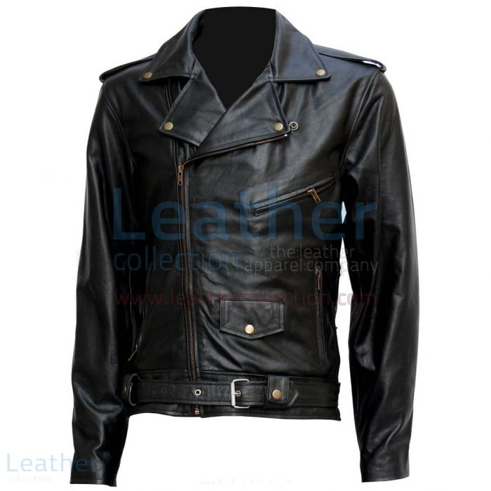 ARNOLD TERMINATOR LEATHER JACKET BIKER