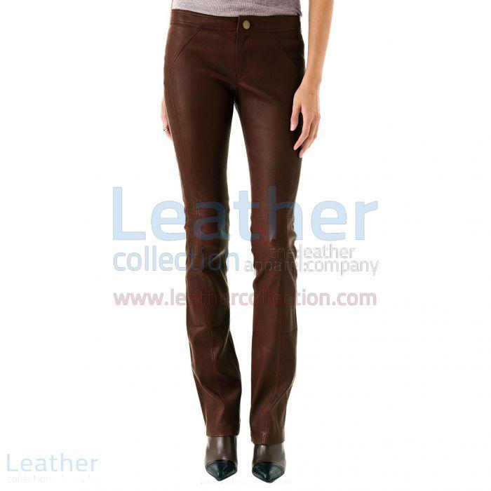 LADIES LEATHER PANTS BROWN