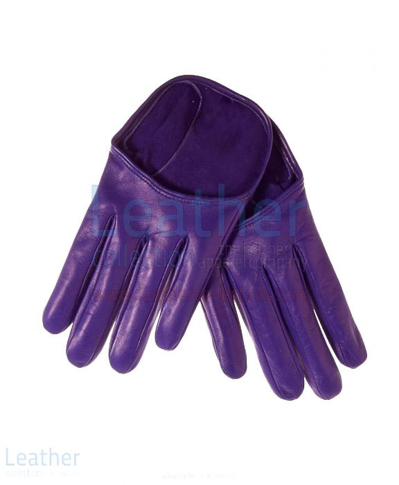 Women's short leather gloves