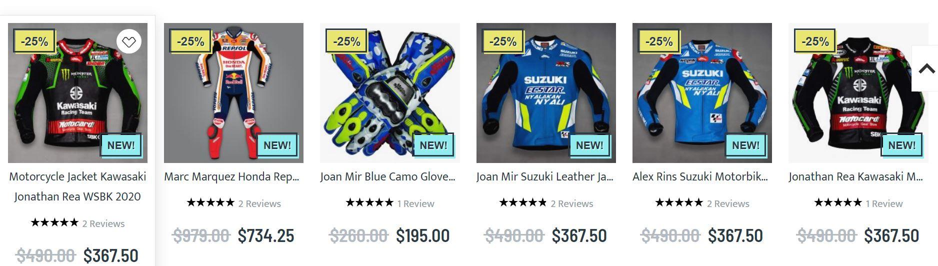 Designer biker jackets
